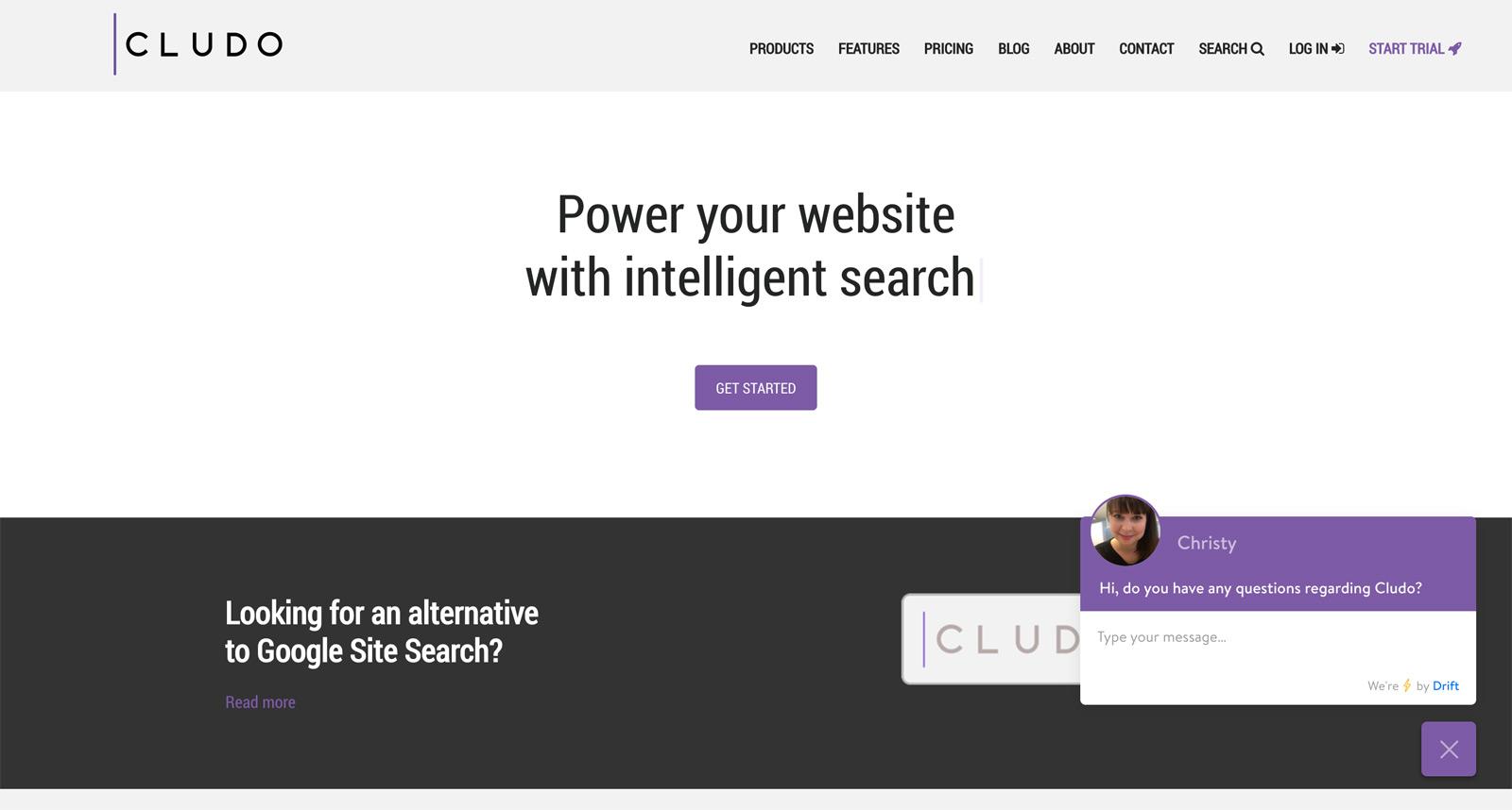 Cludo Cloud Search Alternative zu Google Site Search