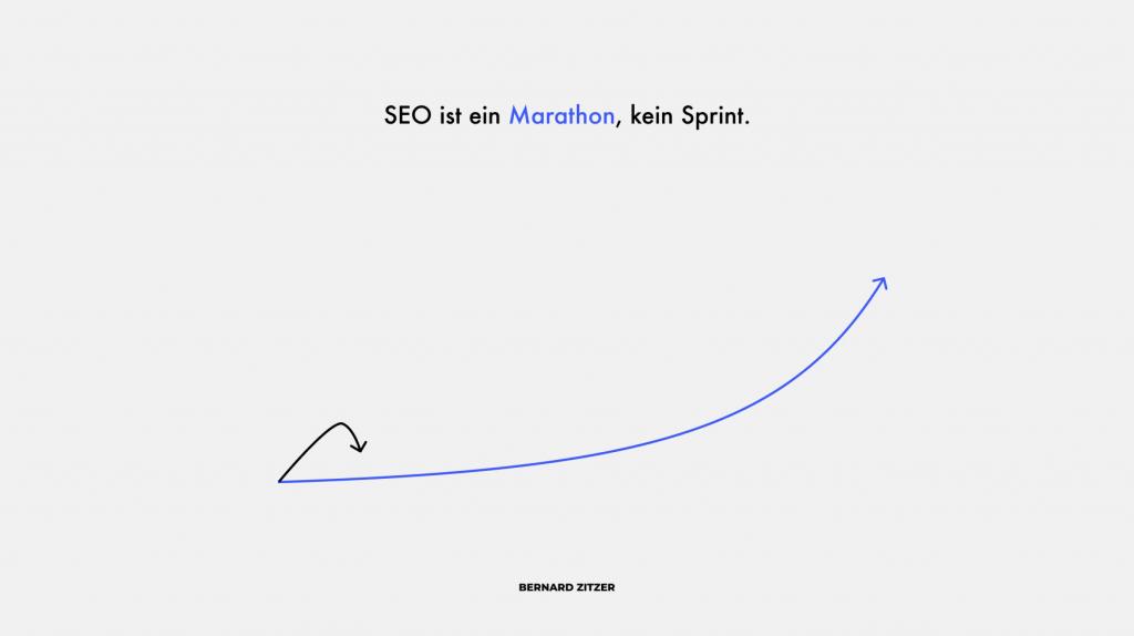 SEO ist ein Marathon kein Sprint Grafik